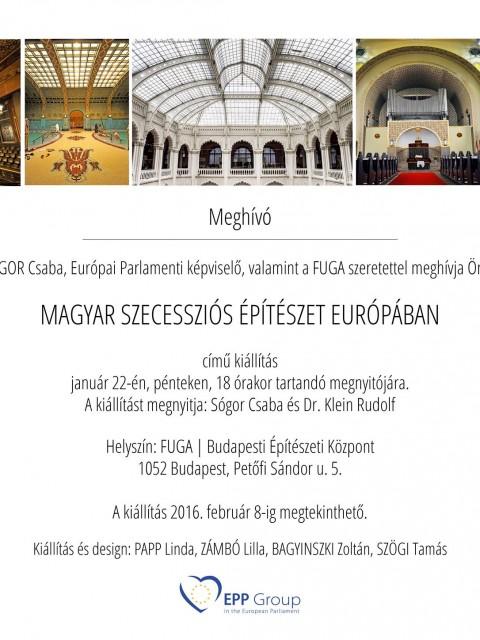 Magyar szecessziós építészet Európában január 22.